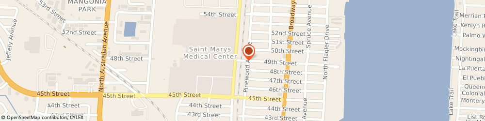 Route/map/directions to St Marys Hospital, 33407 West Palm Beach, 900 49TH STREET