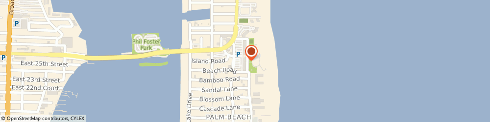 Route/map/directions to Subway, 33404 Riviera Beach, 2501 N. Ocean Avenue