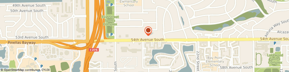 Route/map/directions to Regions St. Petersburg, 33712 Saint Petersburg, 2751 54Th Avenue S