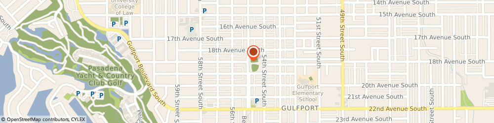Route/map/directions to Gulfport Lions Little League, 33707 Saint Petersburg, 5460 TANGERINE AVE S