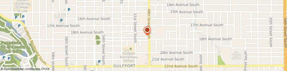 Route/map/directions to Gulfport Watch & Clock Hospital, 33707 Saint Petersburg, 4921 Tangerine Ave S