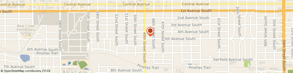 Route/map/directions to Bp Station, 33707 Saint Petersburg, 440 49TH ST