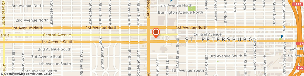 Route/map/directions to Walgreens, 33712 St Petersburg, 3350 Central Ave