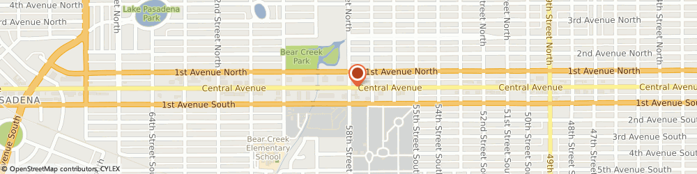 Route/map/directions to Cvs Pharmacy, 33710 Saint Petersburg, 5801 CENTRAL AVENUE