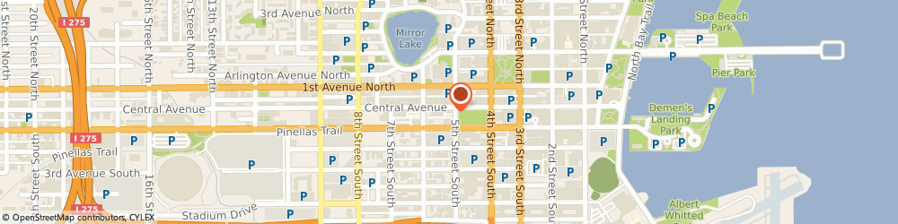 Route/map/directions to Regions St. Petersburg, 33701 Saint Petersburg, 510 Central Avenue