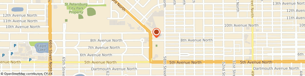 Route/map/directions to Spa 801, 33710 Saint Petersburg, 801 Tyrone Boulevard