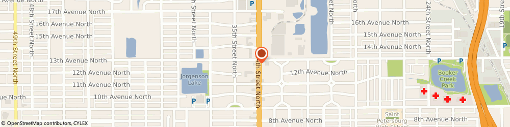 Route/map/directions to Bp Station, 33713 Saint Petersburg, 1266 34TH STREET N