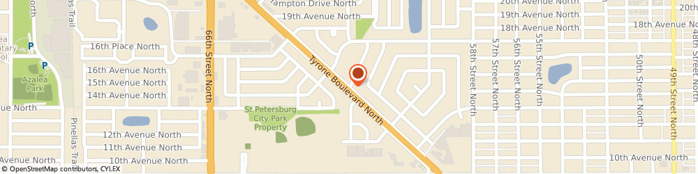 Route/map/directions to Tyrone Veterinary Hospital, 33710 Saint Petersburg, 3451 Tyrone Blvd. N