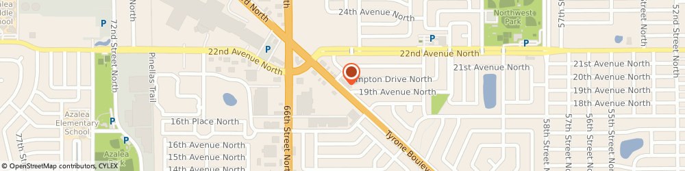 Route/map/directions to Nursecore, 33710 Saint Petersburg, 1919 TYRONE BLVD N