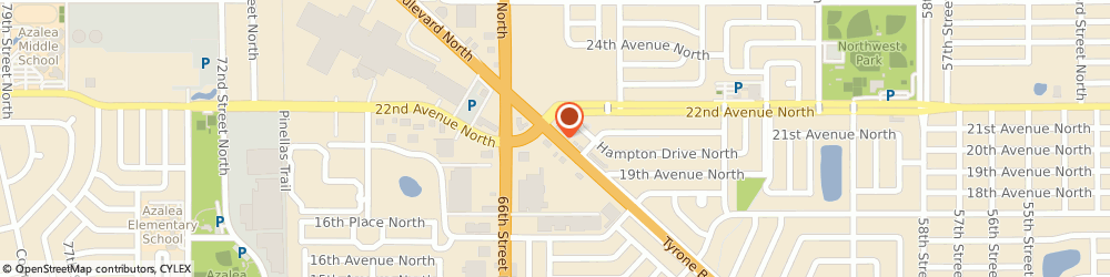 Route/map/directions to Long Horn Steakhouse, 33710 Saint Petersburg, 2176 Tyrone Blvd N