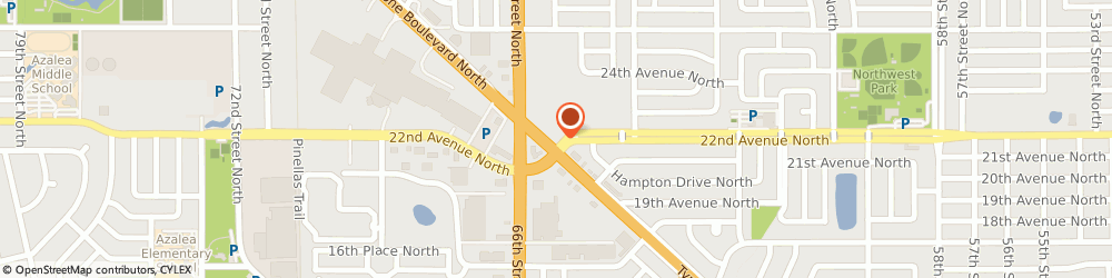 Route/map/directions to Mattress Firm Tyrone & 22nd, 33710 Saint Petersburg, 2201 Tyrone Blvd N