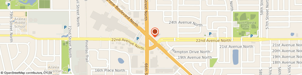 Route/map/directions to Burger King, 33710 Saint Petersburg, 2263 Tyrone Square