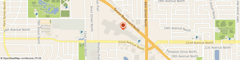 Route/map/directions to H&R Block, 33710 Saint Petersburg, 2353 Tyrone Blvd N