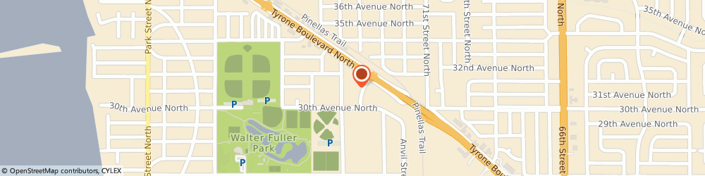 Route/map/directions to Aaron Medical Industries Inc, 33710 Saint Petersburg, 3200 TYRONE BLVD N