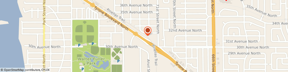Route/map/directions to Hart's Home Services, 33710 Saint Petersburg, 3127 Tyrone Blvd