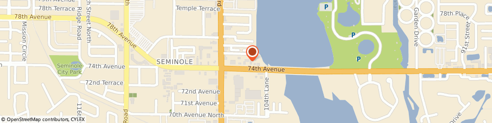 Route/map/directions to American Express Financial Advisors, 33772 Seminole, 10525 PARK BOULEVARD SUITE 105