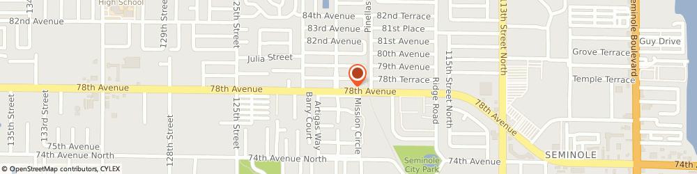 Route/map/directions to Bank of America, 33772 Seminole, 11175 78TH AVENUE N
