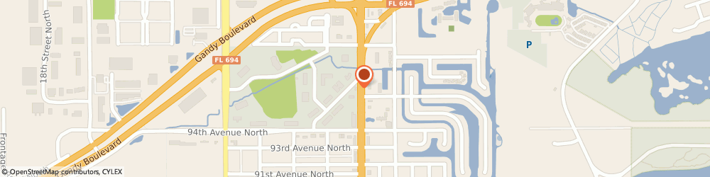 Route/map/directions to Airborne Bp, 33702 Saint Petersburg, 9650 4TH ST N