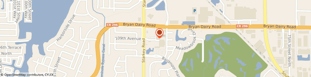 Route/map/directions to Bank of America, 33777 Seminole, 10801 STARKEY RD