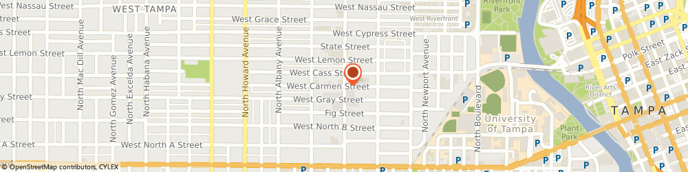 Route/map/directions to Leah Benson Therapy, 33606 Tampa, 1719 W. Carmen St