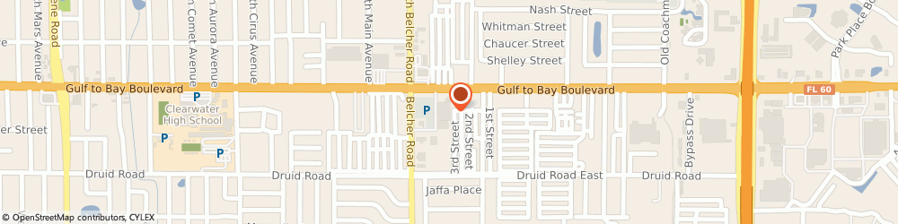 Route/map/directions to Navy Federal Credit Union ATM, 33764 Clearwater, 525 S Belcher Rd