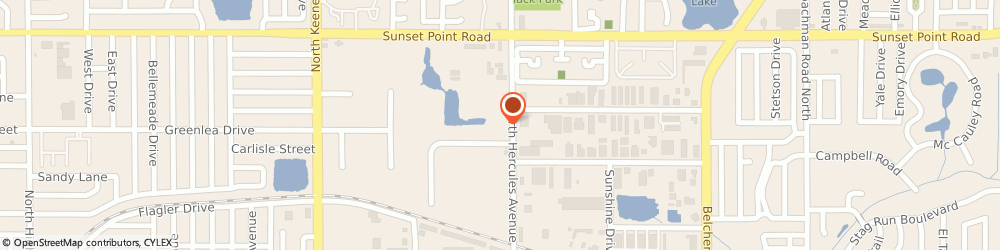 Route/map/directions to Bee Hive Awards & Advertising Specialties, 33765 Clearwater, 1810 NORTH HERCULES AVENUE