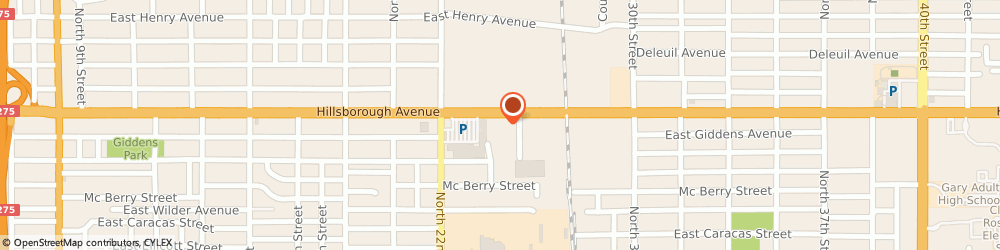 Route/map/directions to Tampa Fashion District, 33610 Tampa, 2241 E Hillsborough Ave