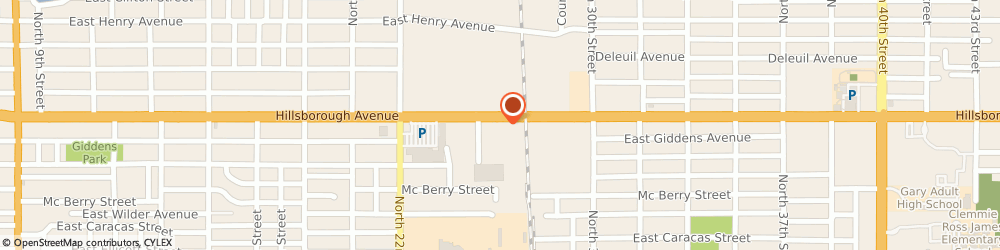 Route/map/directions to Burger King, 33610 Tampa, 2601 East Hillsborough Ave