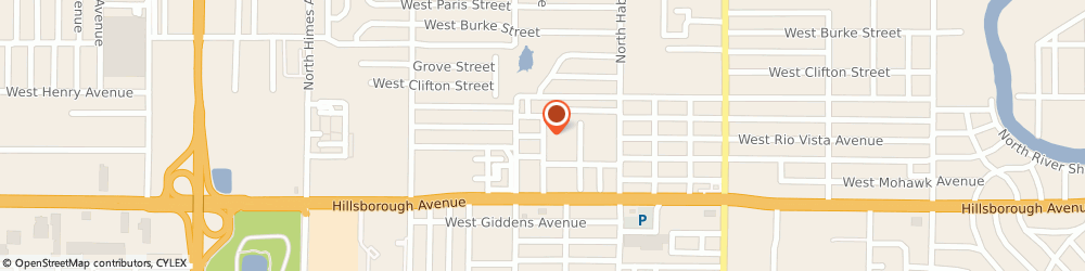 Route/map/directions to Evans Mobile Paintless Dent Repair, 33614 Tampa, 3111 W Rio Vista Ave