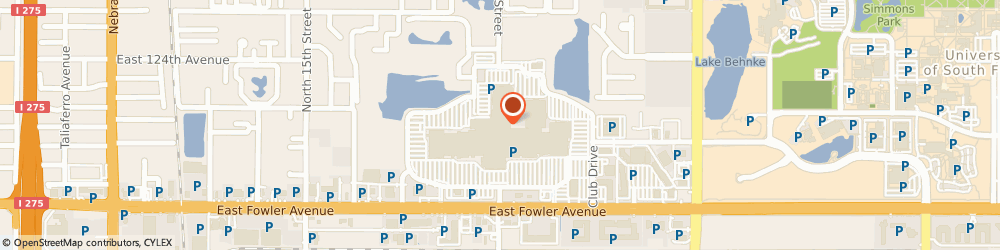 Route/map/directions to Piercing Pagoda, 33612 Tampa, 2200 East Fowler Avenue