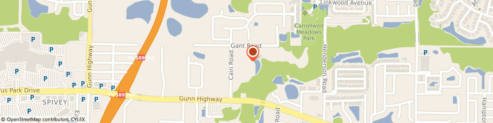 Route/map/directions to Pool Wizard, 33625 Tampa, 6504 WINDING OAK DR