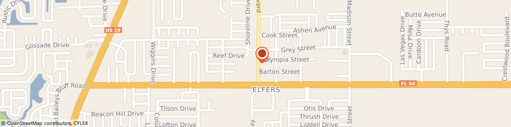 Route/map/directions to Peterson's Service Corp, 34652 New Port Richey, 4049 Grand Blvd