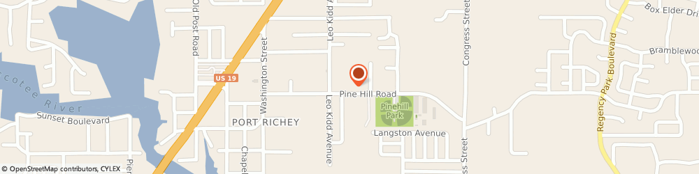 Route/map/directions to Pilot Pool Service Incorporated, 34668 Port Richey, 6039 Pine Hill Rd