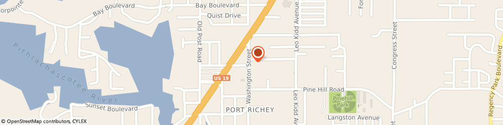Route/map/directions to AIR PROMPT, 34668 Port Richey, 8124 Washington Street