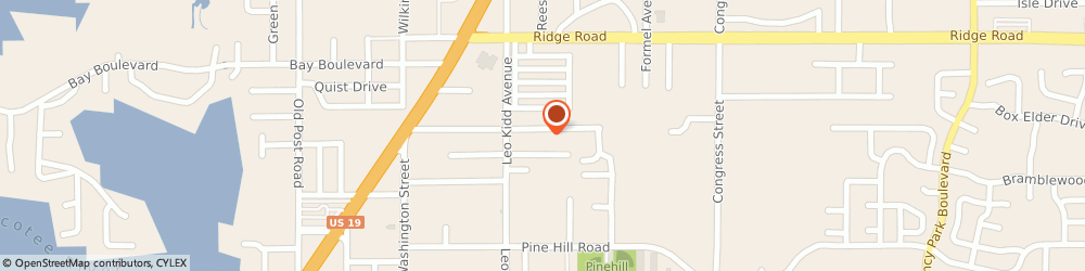 Route/map/directions to Porter Leather, 34668 Port Richey, 6042 SIESTA LN