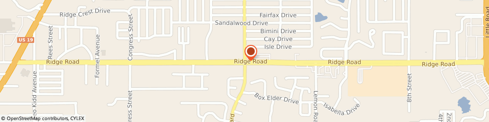 Route/map/directions to Navy Federal Credit Union ATM, 34668 Port Richey, 7131 Ridge Rd @ Regency Park Blvd