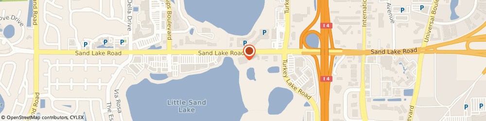 Route/map/directions to WBPRO, 32819 Orlando, 7380 W. Sand Lake Road.