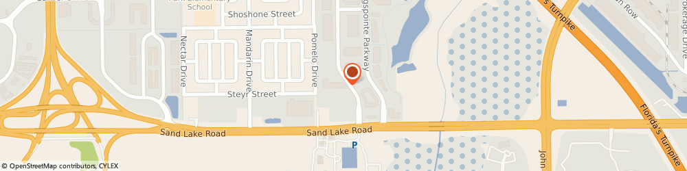 Route/map/directions to Viable Solutions Inc, 32819 Orlando, 7802 Kingspointe Parkway # 206