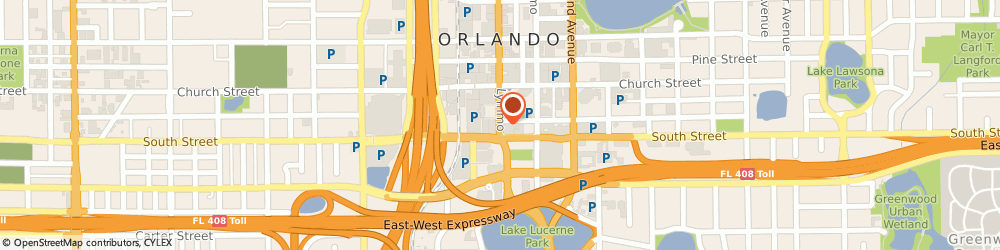 Route/map/directions to Starbucks, 32801 Orlando, 325 S Orange Ave