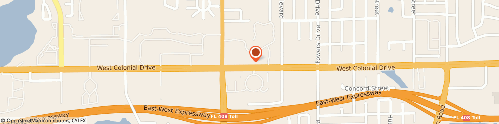 Route/map/directions to Taco Bell, 32818 Orlando, 6611 West Colonial Drive