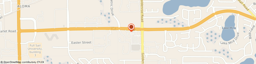 Route/map/directions to Starbucks, 32792 Winter Park, 7420 University Blvd