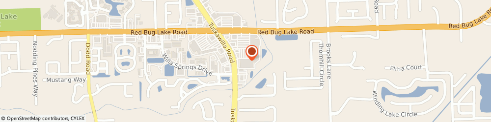 Route/map/directions to HomeGoods, 32708 Winter Springs, 1425 Tuskawilla Road