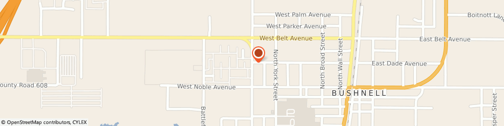 Route/map/directions to Good Neighbor Pharmacy, 33513 Bushnell, 417 North West Street