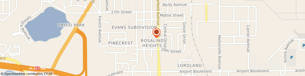 Route/map/directions to American Legion Post No 53, 32773 Sanford, 2874 S SANFORD AVE