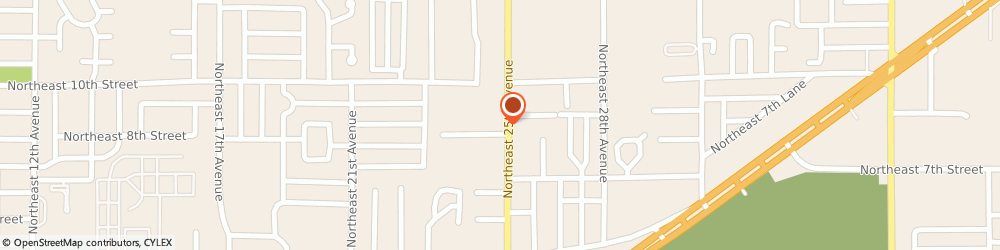 Route/map/directions to Clark Eye Care Ctr, 34470 Ocala, 810 Ne 25Th Ave