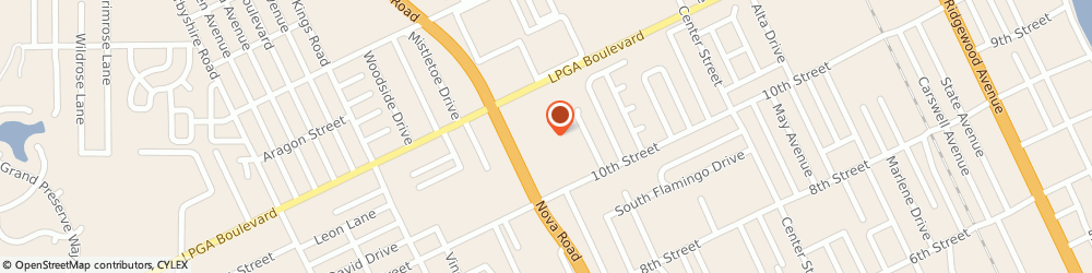 Route/map/directions to Direct Auto Insurance, 32117 Holly Hill, 1561 Nova Road