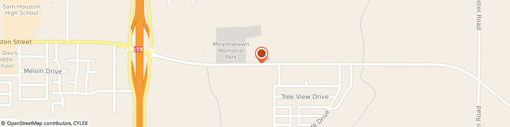 Route/map/directions to Meadowlawn Memorial Park, 78220 San Antonio, 5611 East Houston Street