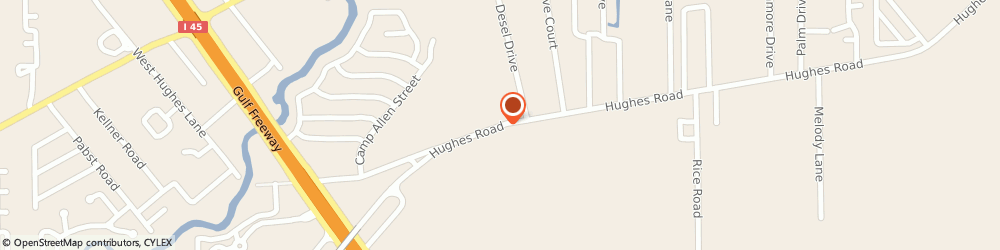 Route/map/directions to U-Haul Co, 77539 Dickinson, 1000 HUGHES RD