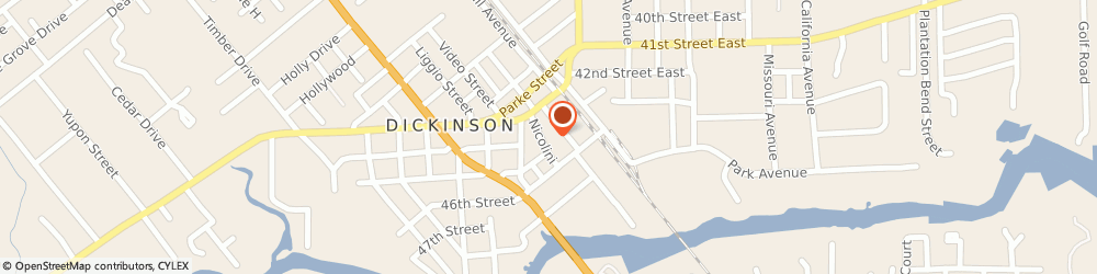 Route/map/directions to U-Haul Co, 77539 Dickinson, 4401 NICHOLINI ST