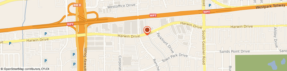 Route/map/directions to Humane Health Care Incorporated, 77036 Houston, 10333 HARWIN DRIVE SUITE 350
